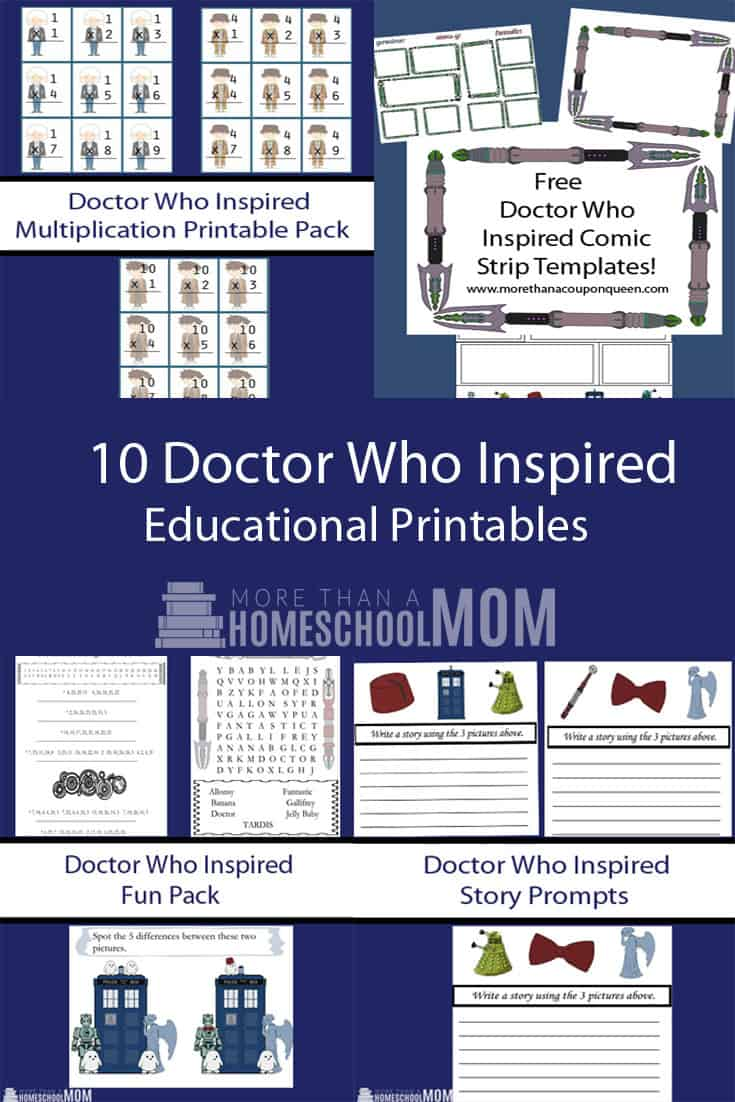 10 Doctor Who Inspired Educational Printables - #doctorwho #whovian #freeprintable #education #doctorwhoeducation #doctorwhomath #doctorwhomaths #edchat #education