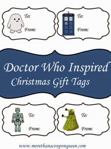 Doctor Who Inspired Gift Tags