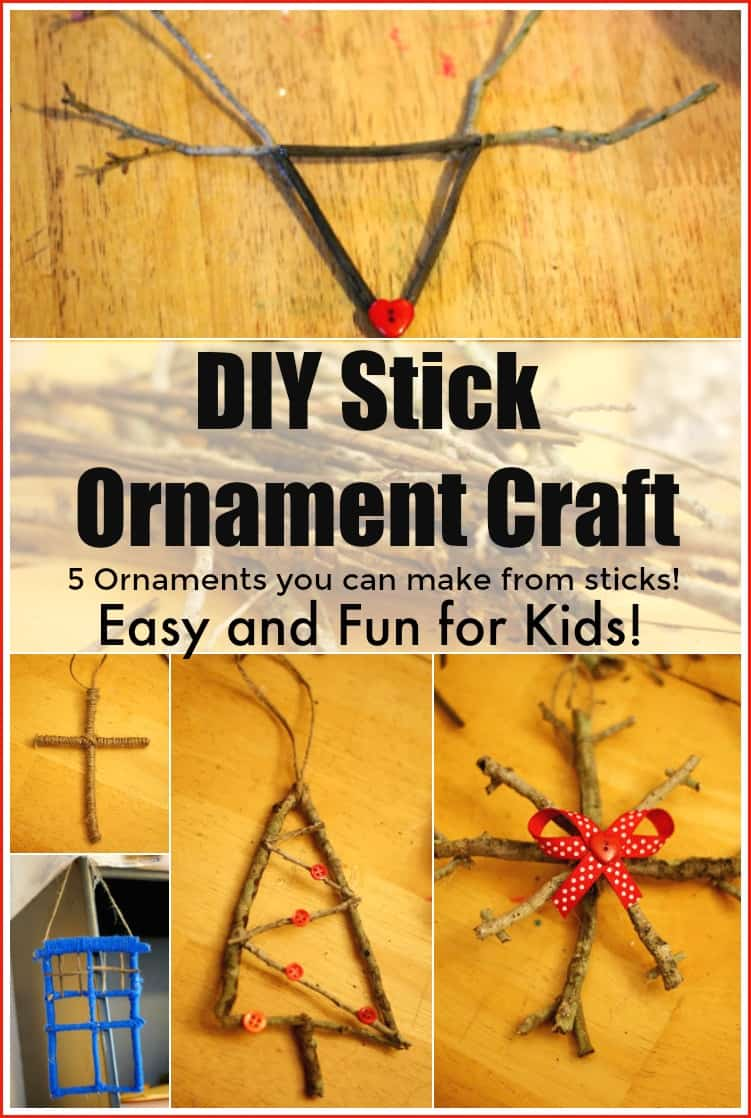 DIY Stick Ornament Craft 5 Ornaments you can make from sticks Easy and fun Craft for kids