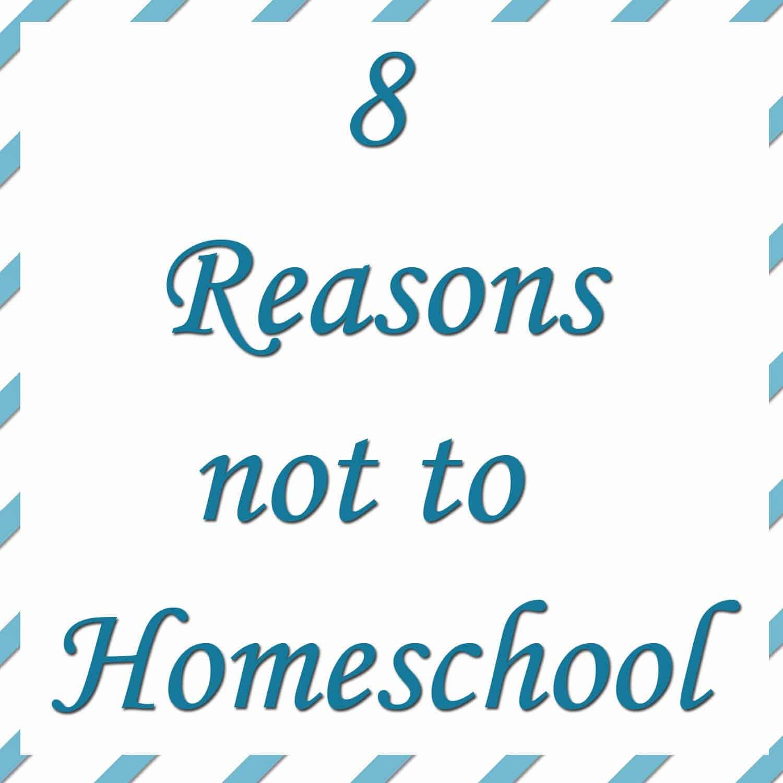 8 Reasons Not to Homeschool