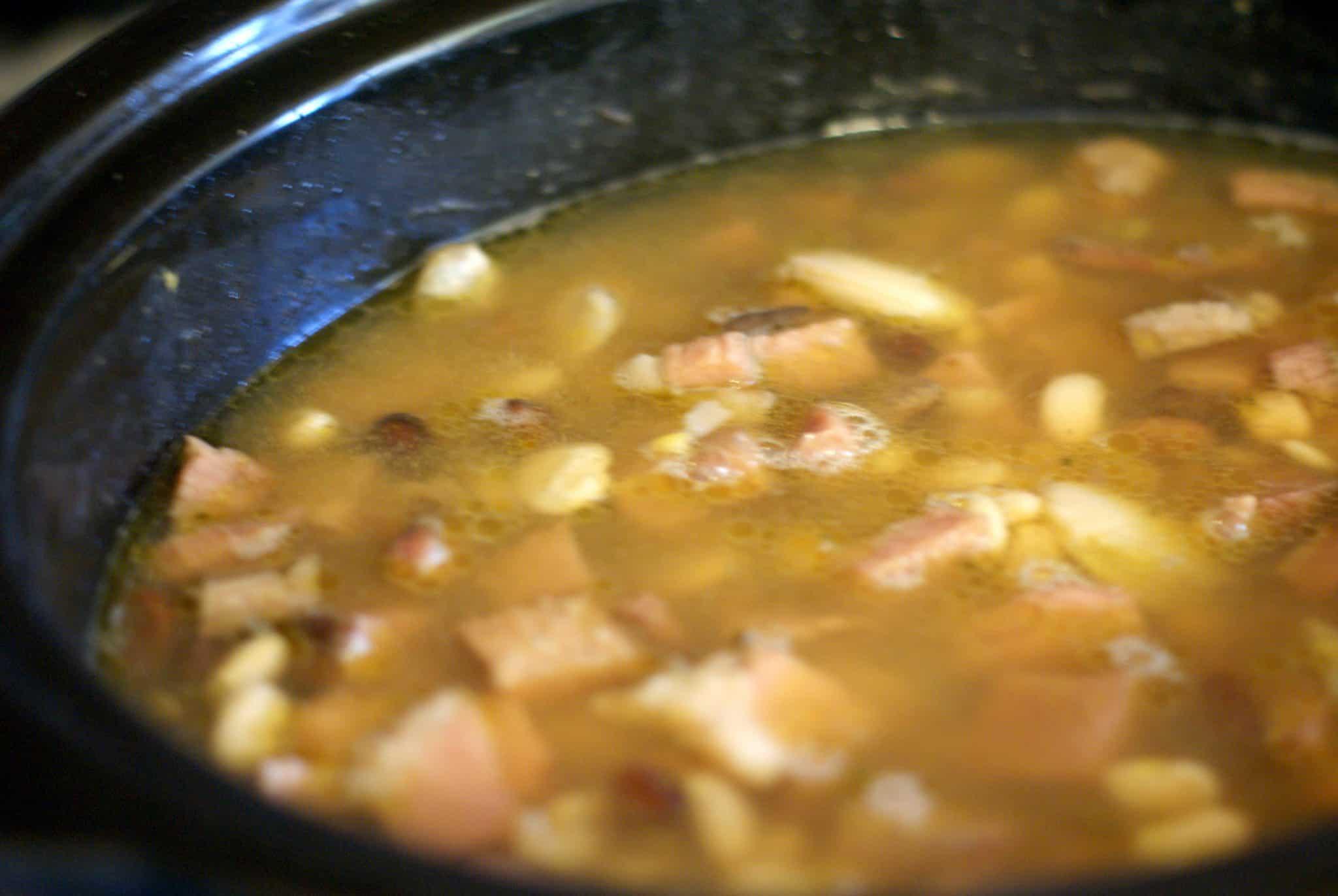 No Soak Crock Pot 15 Bean Soup