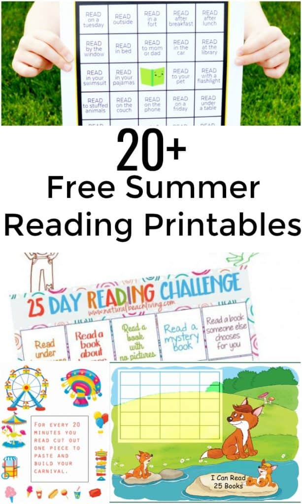 More Than 20 Free Summer Reading Printables you don't want to miss! Get kids reading this summer. - #SummerReading #Reading #FreePrintable
