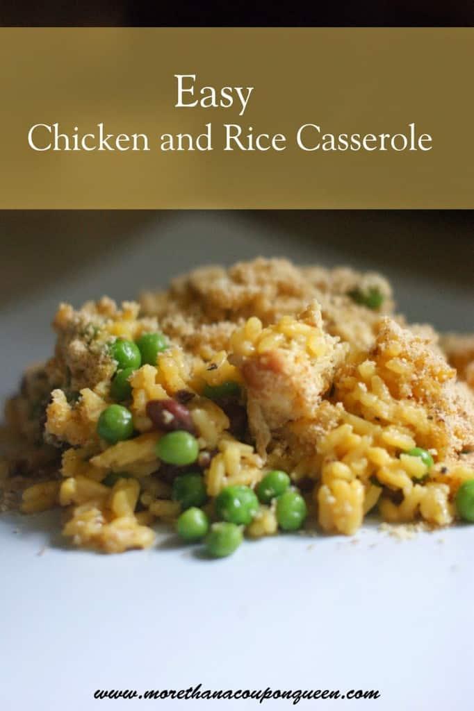 Easy Chicken & Rice Casserole