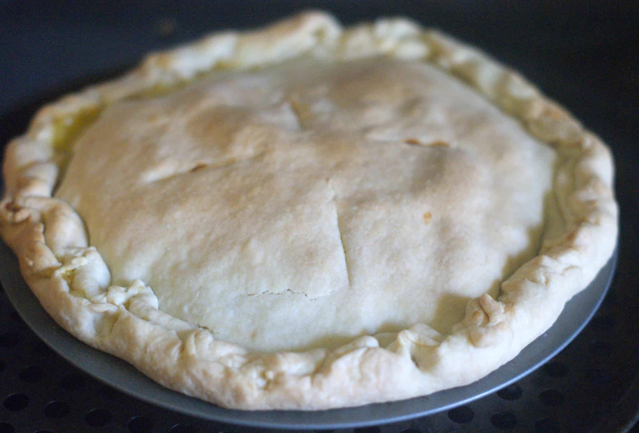Cooked homemade chicken pot pie - #dinner #recipe #chickenpotpie #easyrecipe  #mealplan #freezercooking #mealprep #chickenrecipe