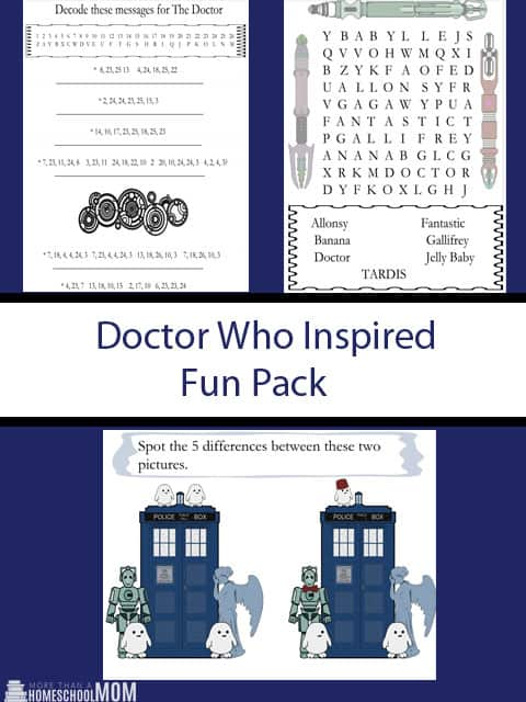 Doctor Who Inspired Fun Pack - #DoctorWho #Whovian #FreePrintable #Printable