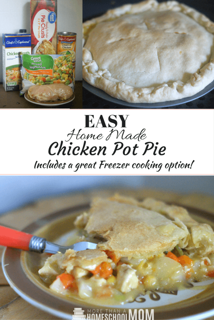 Easy Home Made Chicken Pot Pie recipe