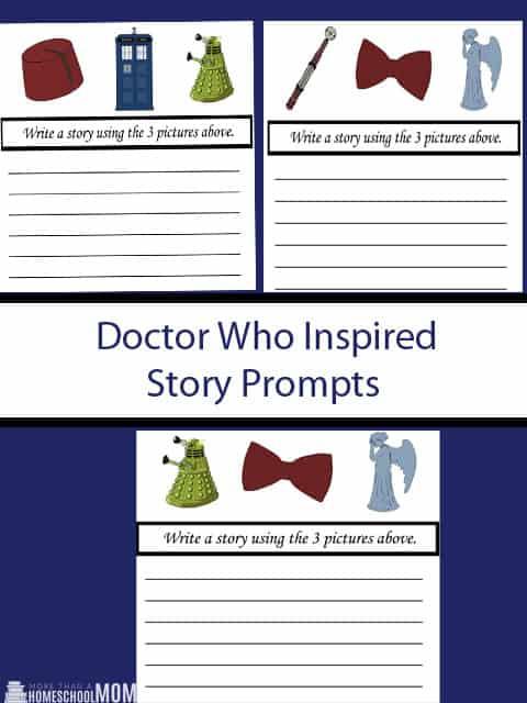 Doctor Who Inspired Story Prompts - #doctorwho #writing #writingprompts #homeschool #education #freeprintable #printable