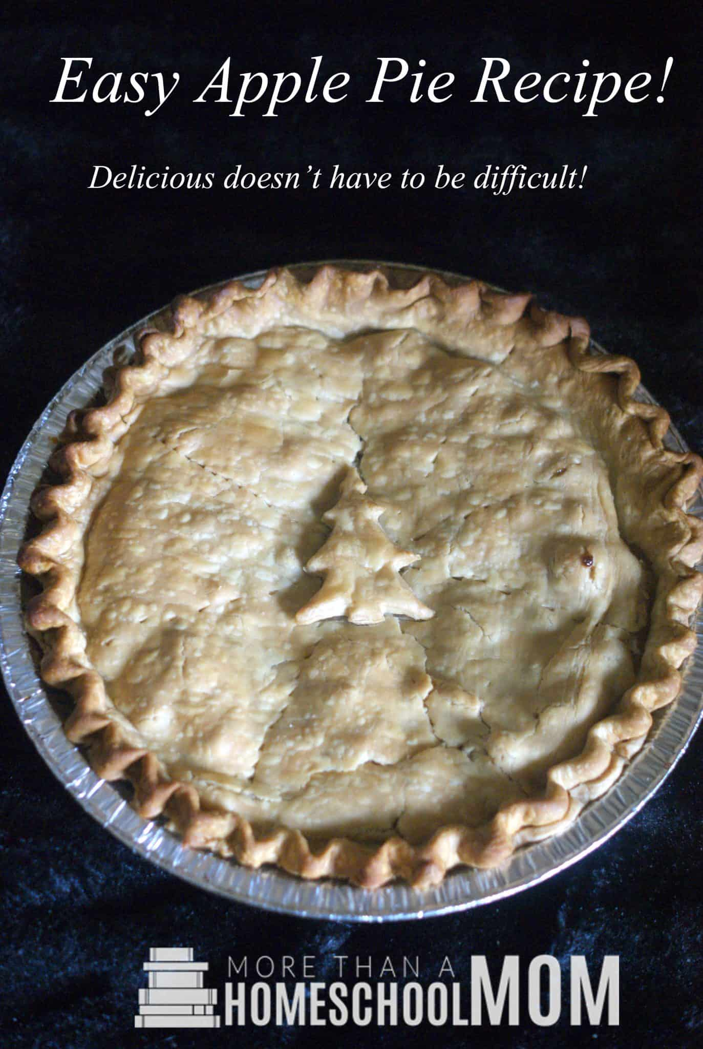 Easy Apple Pie Recipe - Easy home made apple pie recipe with a Doctor Who apple pie with weeping angels.