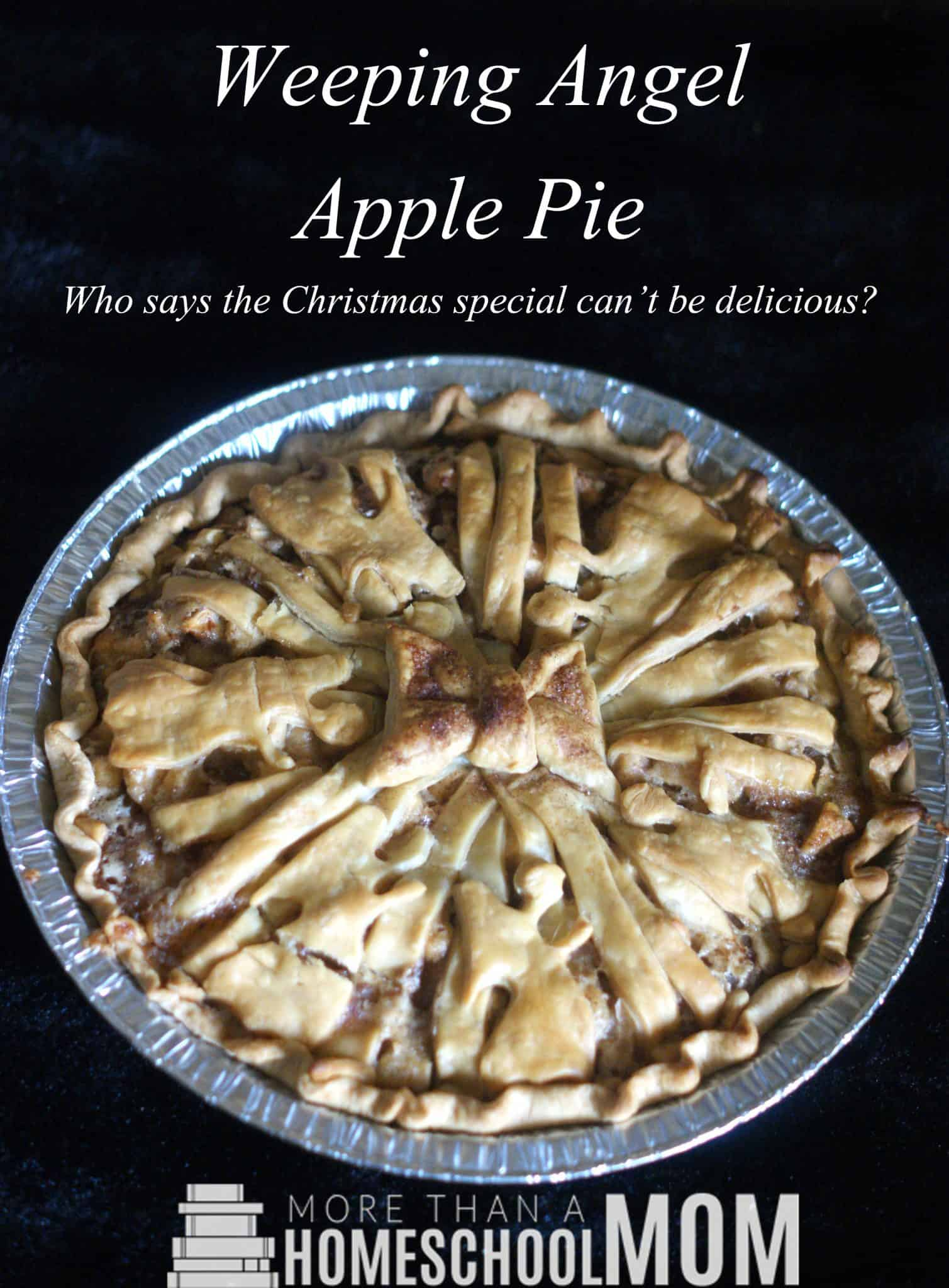 Weeping Angel Apple Pie - Easy Apple Pie Recipe - Easy home made apple pie recipe with a Doctor Who apple pie with weeping angels.