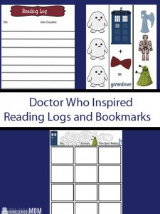 Doctor Who Inspired Reading Logs and Bookmarks