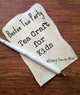 Boston Tea Party Tea Craft for kids