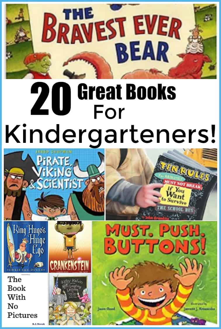 20 great Books for Kindergarteners- 20 Great Books to Read to your Kindergarten Child