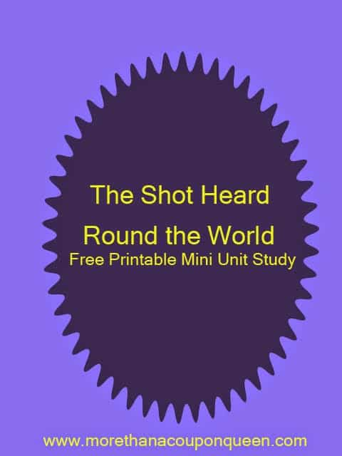 Over the last few weeks we have been working through History using the Liberty's Kids series. This week we will be working on The Shot Heard Round the World. I am so excited for the lesson I have put together with this. Even better, I have made it free for you to enjoy with your kids as well.