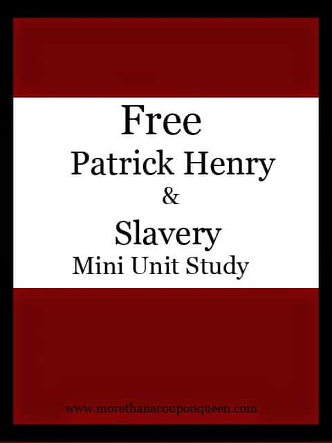 Patrick Henry and Slavery unit study
