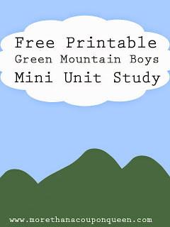 Free Green Mountain Boys Unit Study