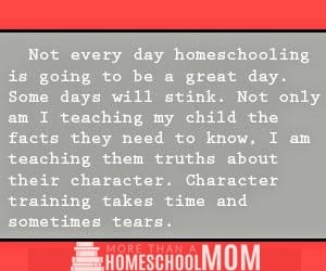 10 homeschoolers wish they could say - Not every day homeschooling is going to be a great day. Some days will stink.