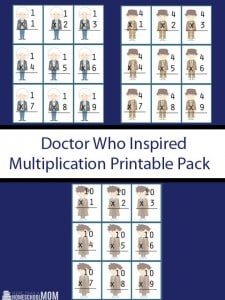 Doctor Who Inspired Multiplication Printable Pack - Doctor Who Math