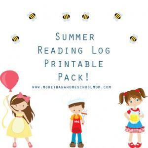 Summer Reading Log Printable Pack