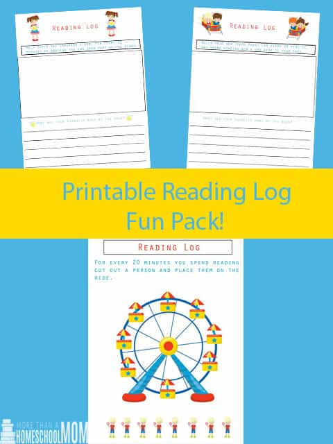 Printable Reading Log Fun Pack - Printable Reading Logs - Summer Inspired reading logs kids can enjoy - Great creative components for kids who love art!