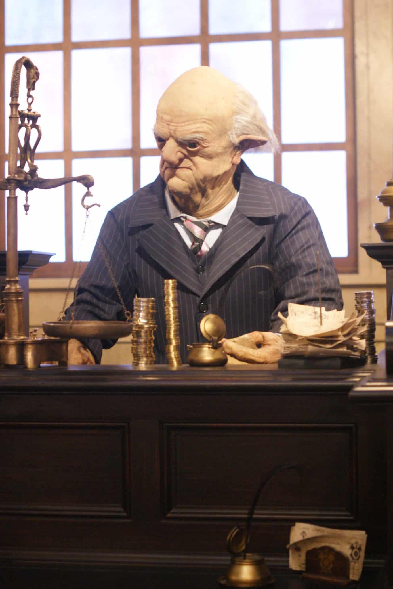 Diagon Alley Goblin in Gringotts Bank - #UniversalStudios #DiagonAlley #Travel #Florida #orlando #Universal