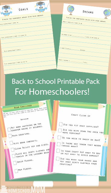 Back to School Printable Pack for Homeschoolers - Do you need to organize your homeschool? Don't miss this back to school printable pack just for homeschoolers! Filled with tons of free ways to get ready.