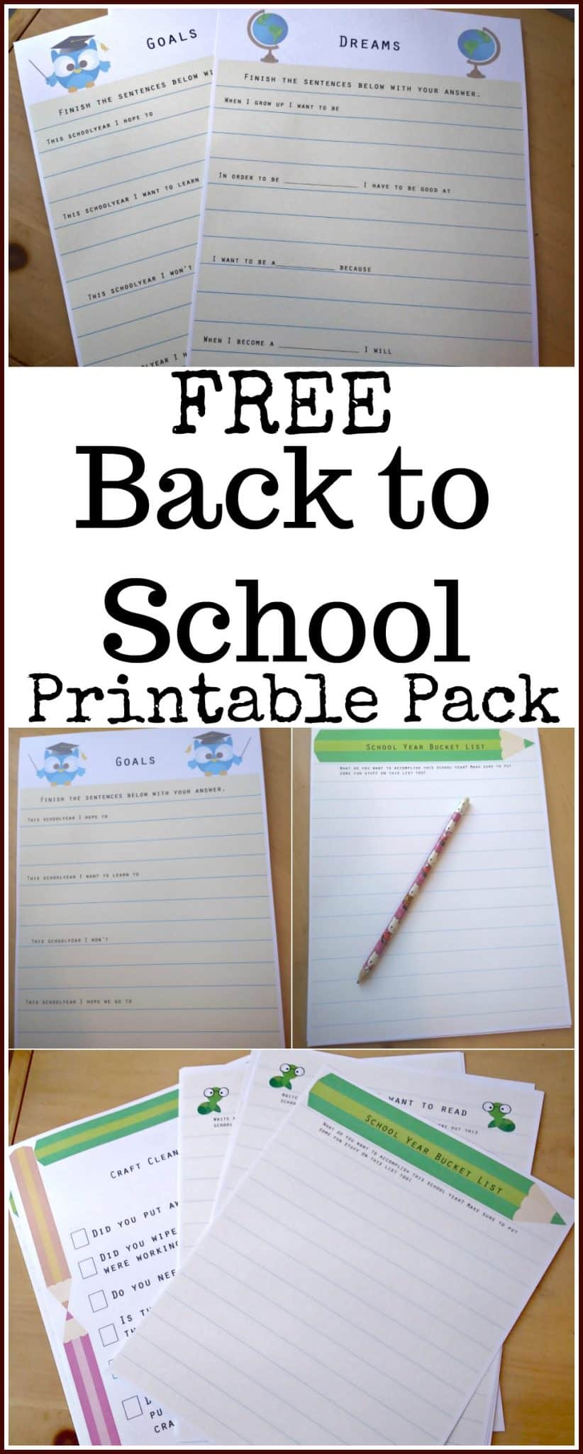 Free Back to School Printable Pack - Great for the classroom or for homeschool families! - #backtoschool #education #freeprintable #edchat #printable