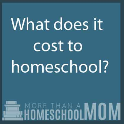 What does it cost to homeschool