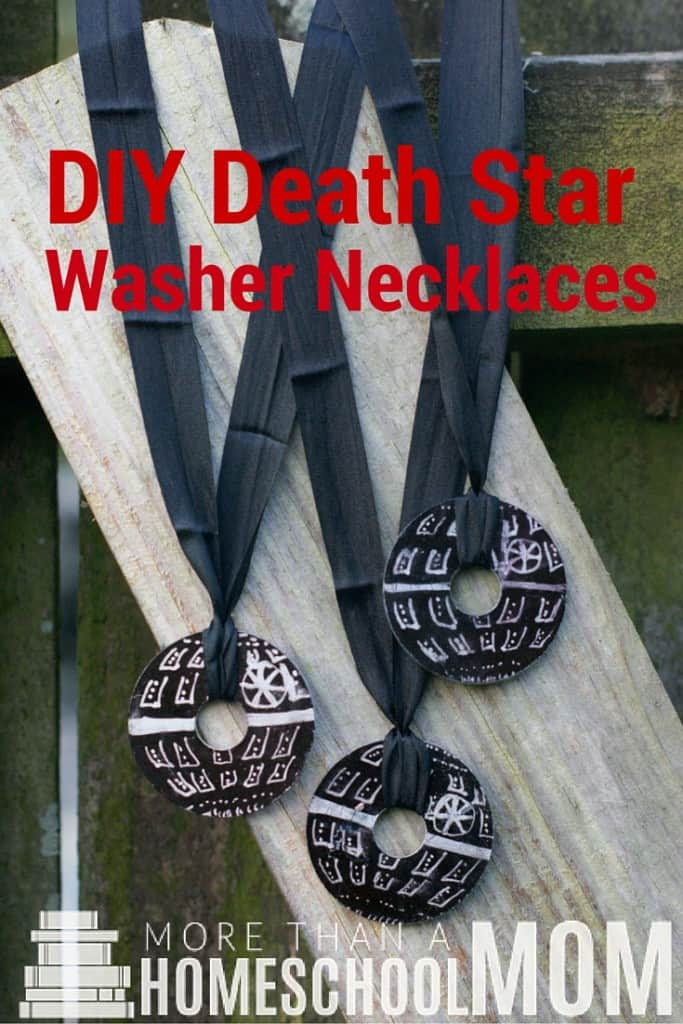 DIY Death Star Washer Necklace