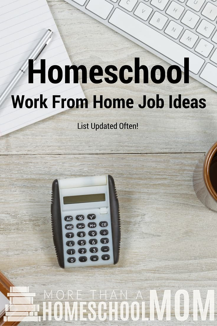 Homeschool Work From Home Job Ideas