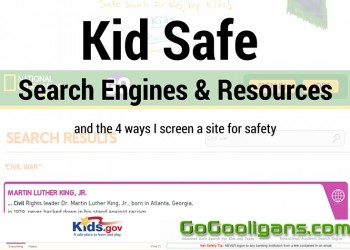 Kid Safe Search Engines and Resources