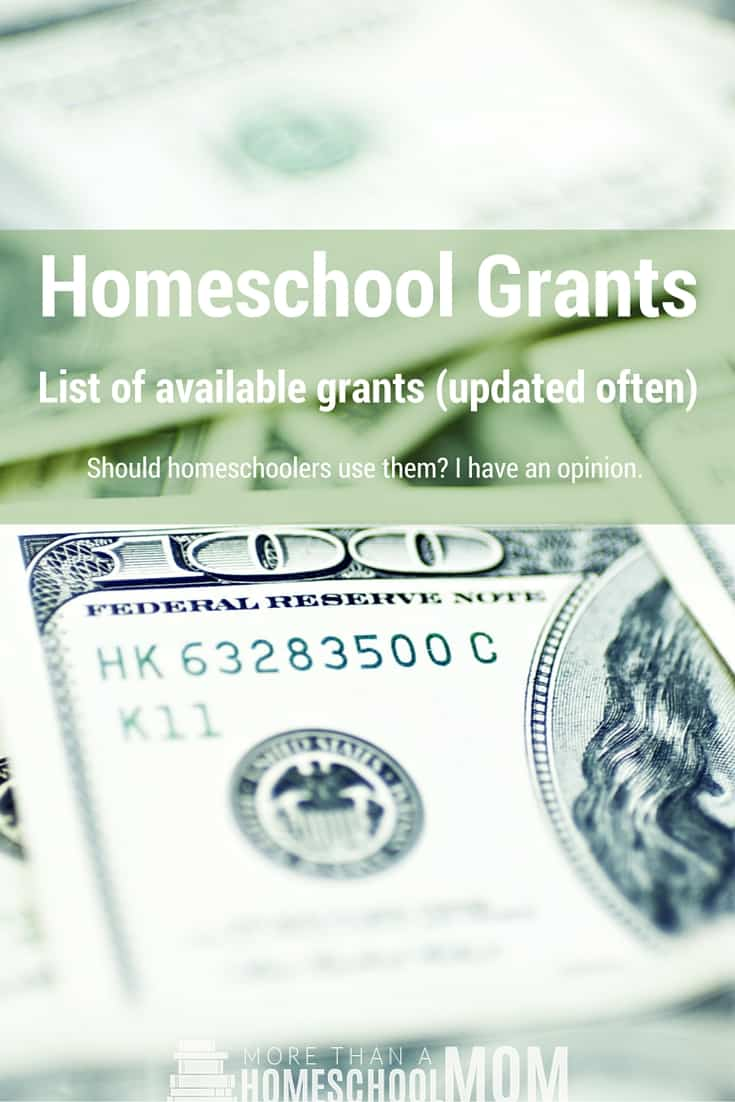 Homeschool Grants - Is there funding for homeschooling? Should you take money for homeschooling from the government? Find out! #Homeschool #edcuation #homeschooling