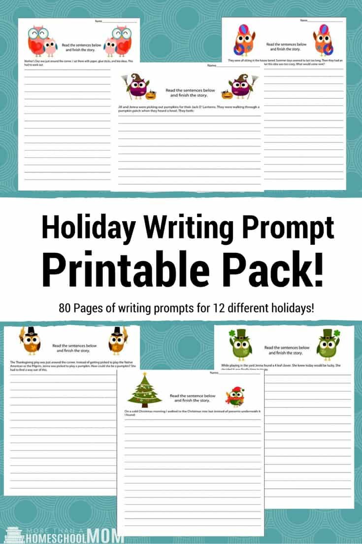Holiday Writing Prompt Printable Pack