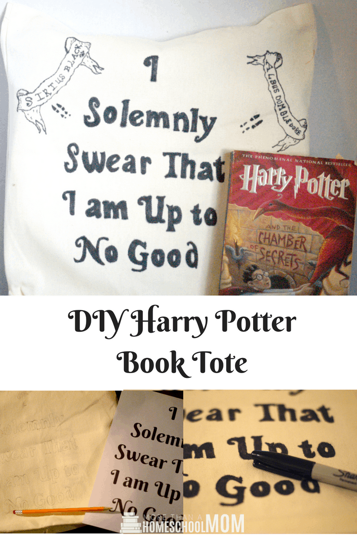 DIY Harry Potter Book Tote