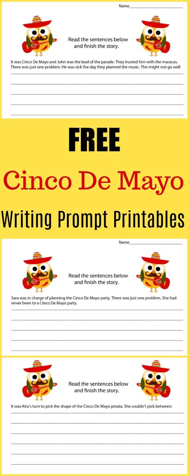 Free Cinco De Mayo Writing Prompt Printables