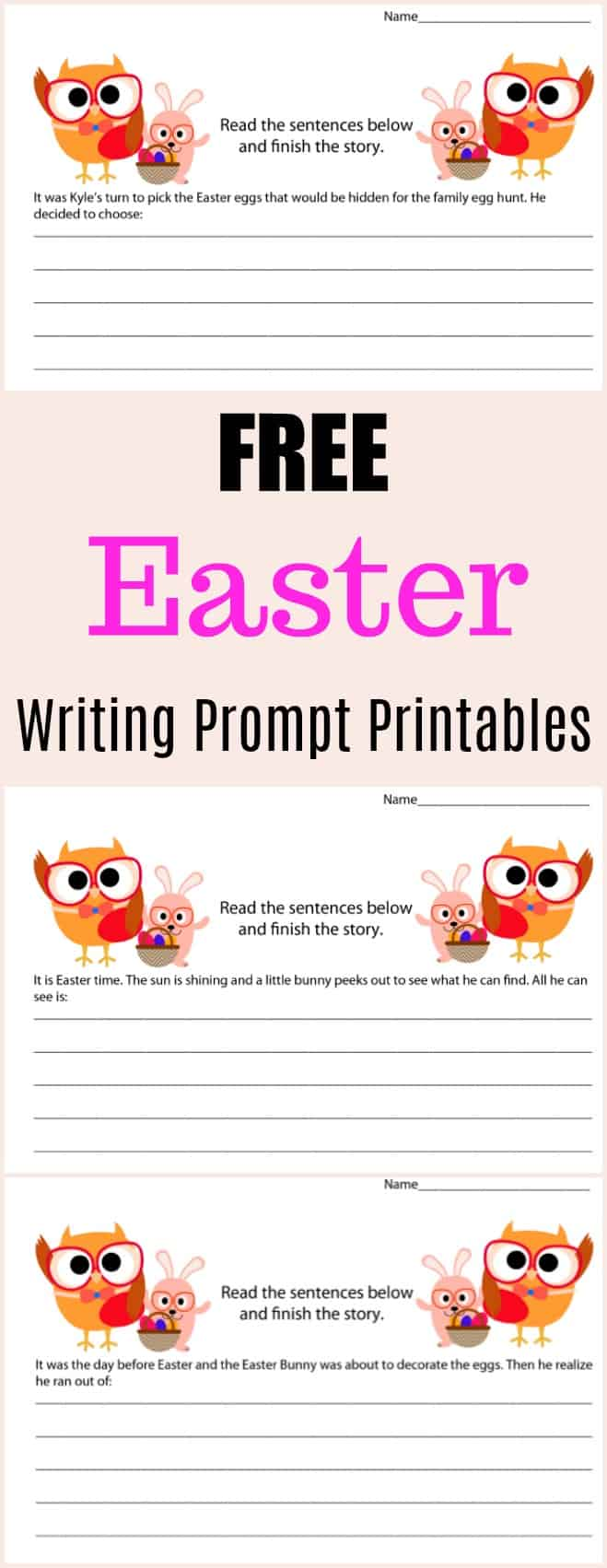 Free Easter Writing Prompt Printables