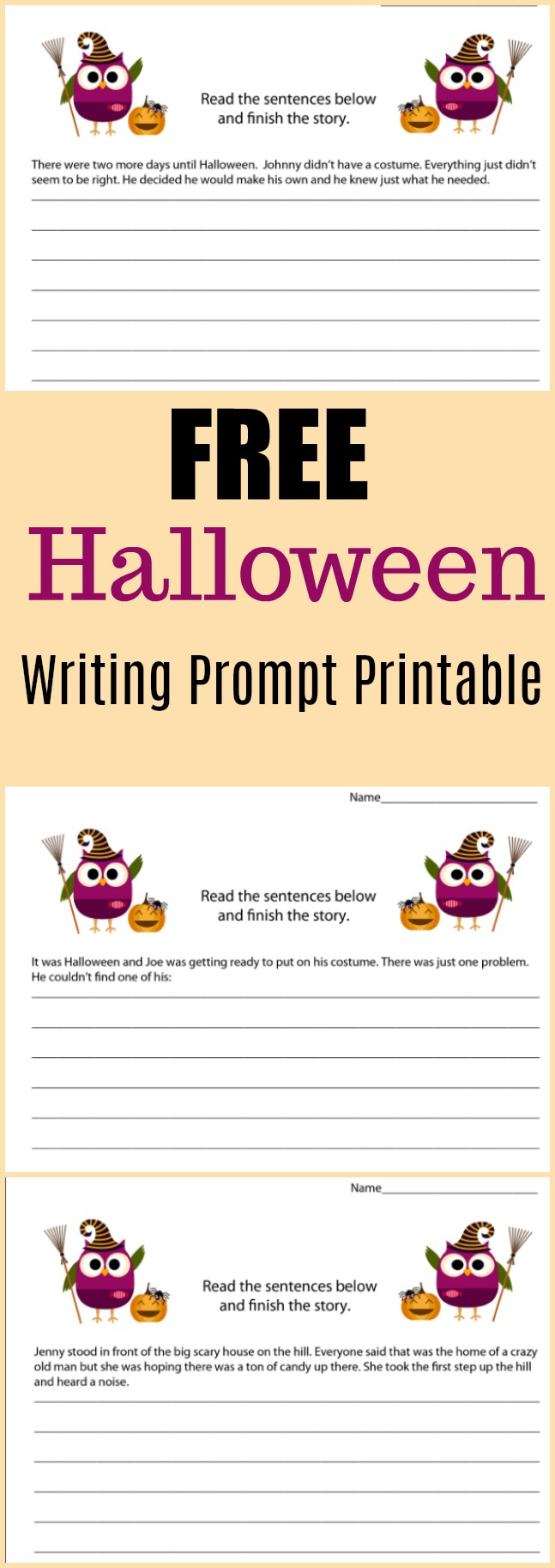 Free Halloween Writing Prompt Printable