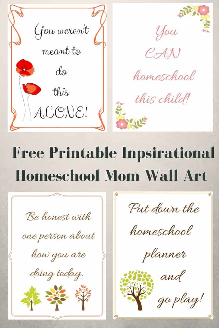 Free Printable Inspirational Homeschool Mom Wall Art
