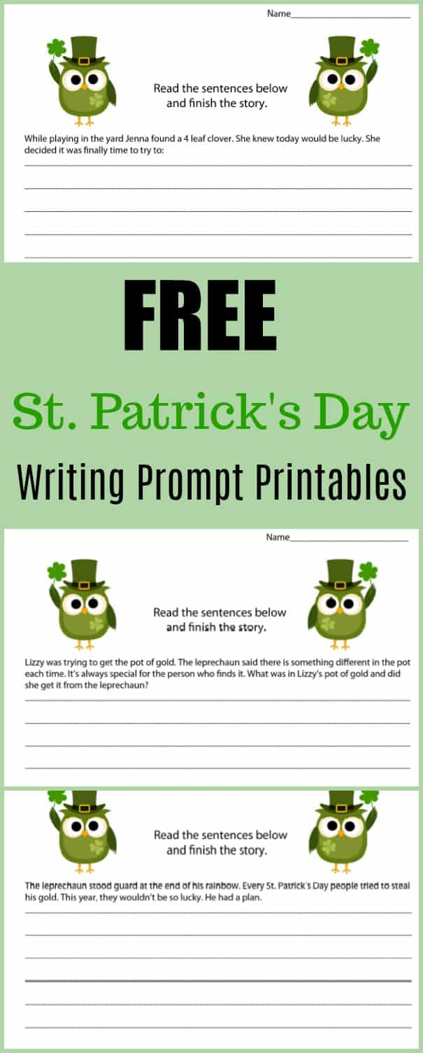 Free St. Patrick's Day Writing Prompt Printables