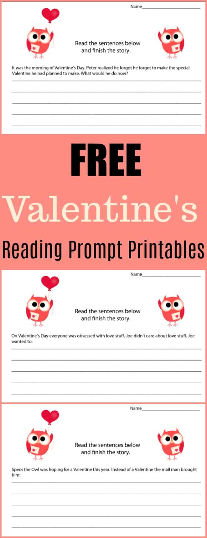 Free Valentine's Writing Prompt Printables