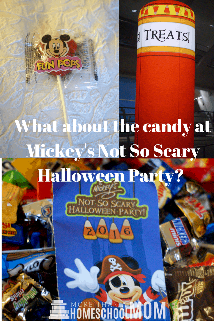 What about the candy at Mickey's Not So Scary Halloween Party?