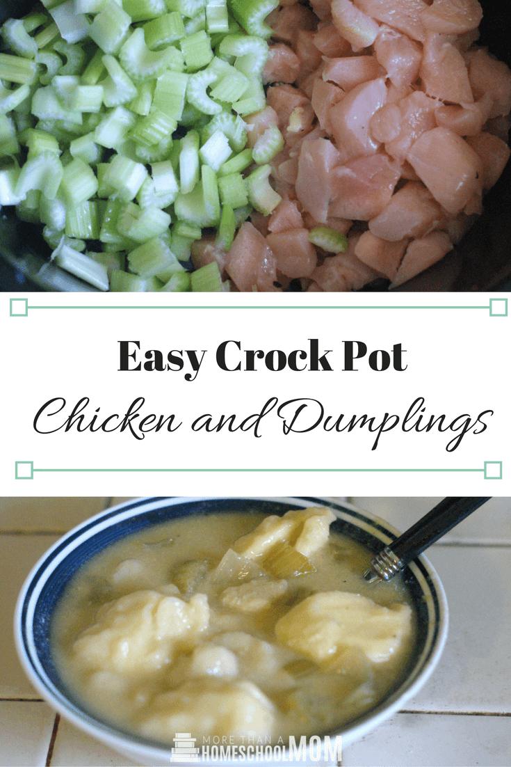 Easy Crock Pot Chicken and Dumplings - #recipe #crockpot #dinner #mealplan