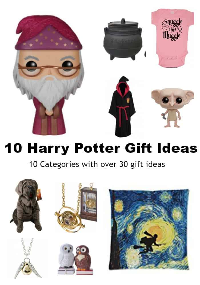 10 Harry Potter Gift Ideas - 10 Categories with over 30 gift ideas - #harrypotter #gift #giftguide #HarryPotterGifts #shopping