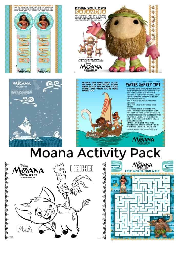 Moana Activity Pack - #moana #freeprintable #freeprintables #disney