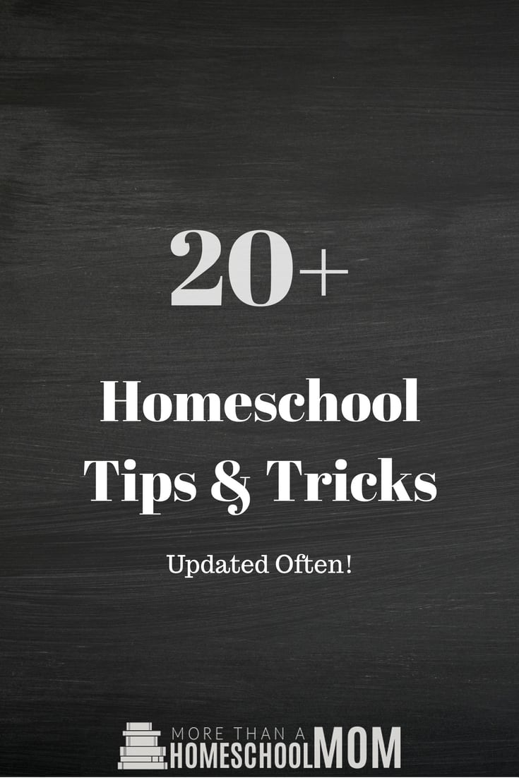 20+ Homeschool Tips & Tricks