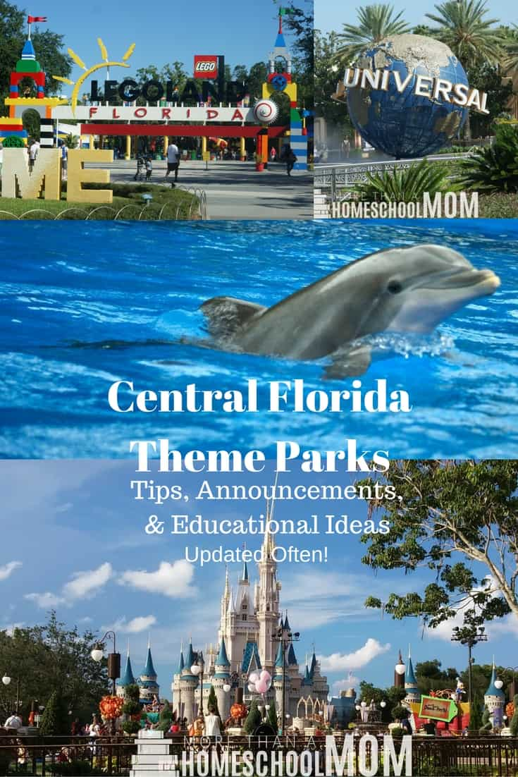 Central Florida Theme Parks | Tips, Announcements, & Educational Ideas - #travel #Florida #centralflorida #education #educationaltravel #floridatravel