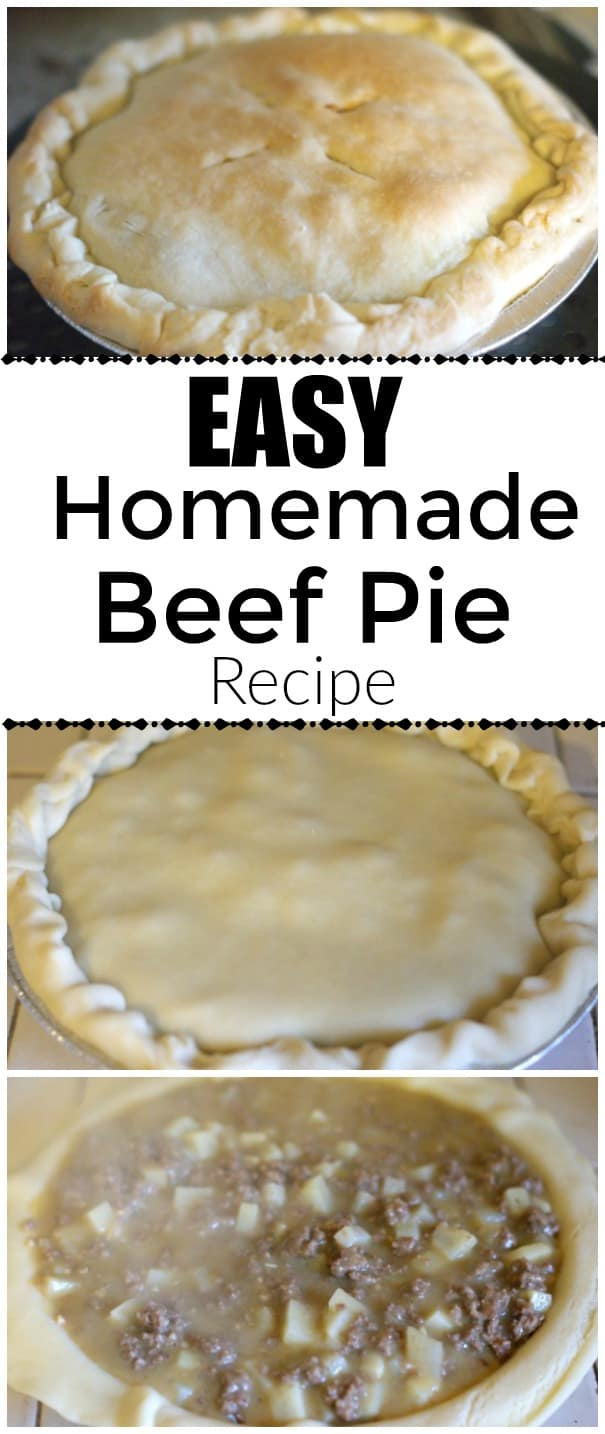 Easy Homemade Beef PIe Recipe - Low cost recipe you can make from scratch in a hurry