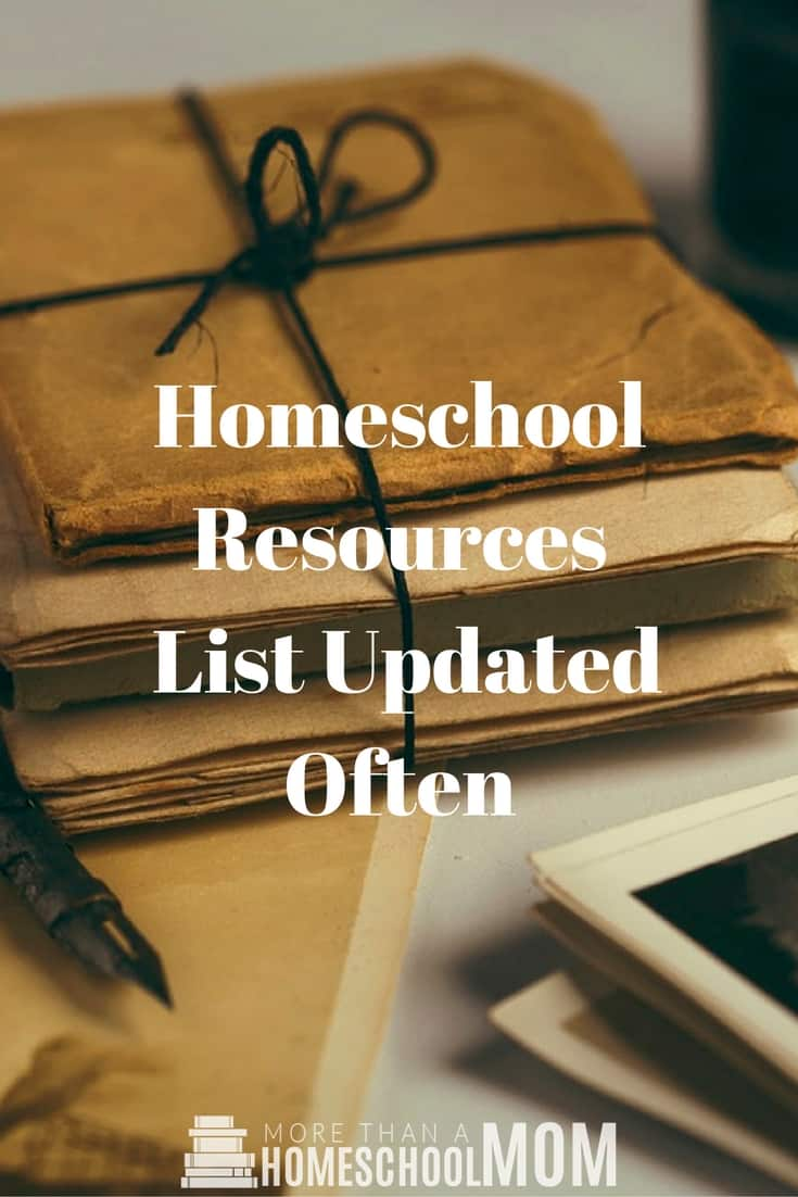 Homeschool Resources | List Updated Often - #homeschool #education #homeschoolresources #edchat