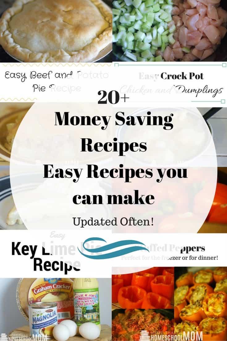 Money Saving Recipes - Easy Recipes you can make