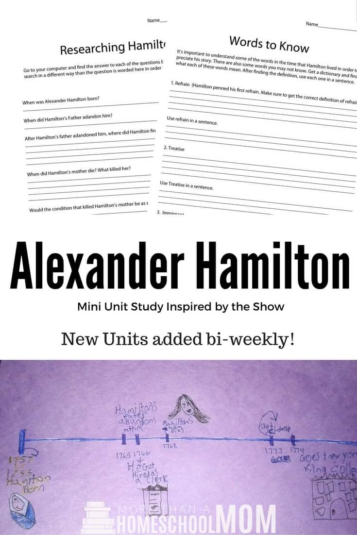 Alexander Hamilton Unit Study | Alexander Hamilton