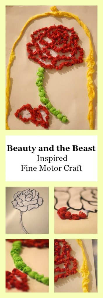 Beauty and the Beast Inspired Fine Motor Craft